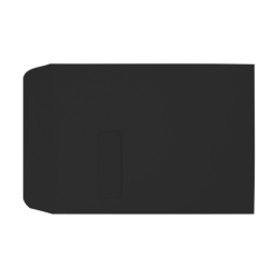 """LUX Open-End Window Envelopes With Peel & Press Closure, #9 1/2, 9"""" x 12"""", Midnight Black, Pack Of 500"""