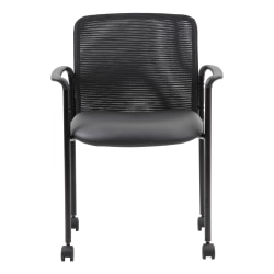 Boss Office Products Mesh Mid-Back Guest Chair, Black