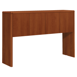 """HON® 10700 Series Laminate Stack-On Hutch, For 60"""" Credenza, Cognac"""