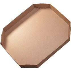 """Office Depot® Brand Bulk Bin Lids, Octagon, 6""""H x 38""""W x 46""""D, Kraft, Pack Of 5"""