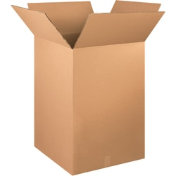 "Office Depot® Brand Double-Wall Heavy-Duty Corrugated Cartons, 24"" x 24"" x 48"", Kraft, Box Of 5"