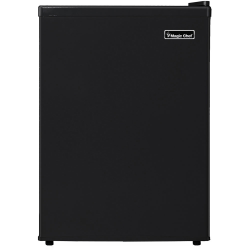 Magic Chef 2.4 cu. ft. Mini Refrigerator - 2.40 ft³ - Manual Defrost - Reversible - 2.10 ft³ Net Refrigerator Capacity - 0.30 ft³ Net Freezer Capacity - 213 kWh per Year - Black - Smooth