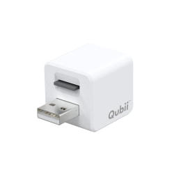 Maktar Qubii Charger And Storage Backup Device For Apple® iPhone® And iPad®, White