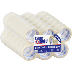 """Tape Logic® Quiet Carton-Sealing Tape, 3"""" Core, 3.1-Mil, 2"""" x 55 Yd., Clear, Pack Of 36"""