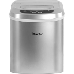 Magic Chef MCIM22SV Ice Maker - 27 lb Per Day - Silver