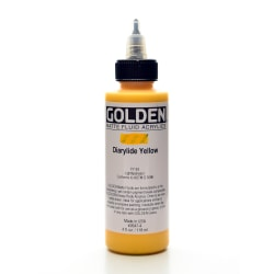 Golden Matte Fluid Acrylic Paint, 4 Oz, Diarylide Yellow