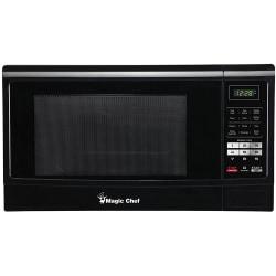 Magic Chef® 1.6 Cu Ft Countertop Microwave, Push-Button Door, Black