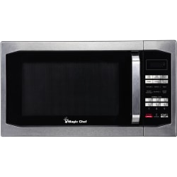 Magic Chef® 1.6 Cu Ft Countertop Microwave, Stylish Handle, Stainless Steel