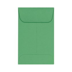 "LUX Coin Envelopes, #1, 2 1/4"" x 3 1/2"", Holiday Green, Pack Of 250"