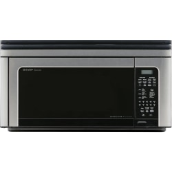 """Sharp Carousel R-1881LSY Convection Microwave Oven - Single - 8.23 gal Capacity - Convection, Microwave, Baking, Roasting, Broiling - 11 Power Levels - 850 W Microwave Power - 13"""" Turntable - 120 V AC - Over The Range - Stainless Steel"""