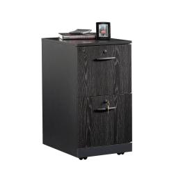 """Sauder® Via 19-1/2""""D Vertical 2-Drawer Pedestal File Cabinet, Bourbon Oak/Soft Black"""