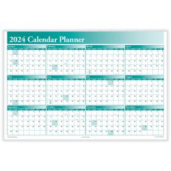 """ComplyRight™ Calendar Planner, 36"""" x 24"""", Green, 2021"""