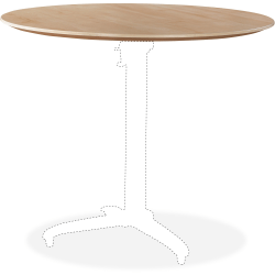 """Lorell® Round Hospitality Table Top, 30""""W, Maple"""