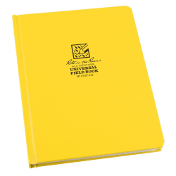 """Rite in the Rain All Weather Bound Notebooks, 6-3/8"""" x 8-1/2"""", 160 Pages (80 Sheets), Yellow, Pack Of 6 Notebooks"""