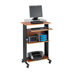 Safco® Muv Fixed-Height Stand-Up Workstation, Cherry