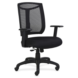 Lorell® Mesh High-Back Air Grid Seat Task Chair, Black