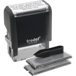 "U.S. Stamp And Sign Custom Self-Inking Dater Stamp, 0.75""W x 1.88""L"