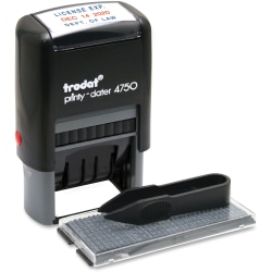 "U.S. Stamp And Sign Custom Dater Self-Inking Stamp, 1""W x 1.63""L"