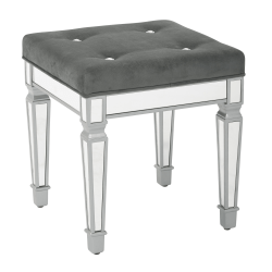 Ave Six Reflections Stool, Graphite/Mirror