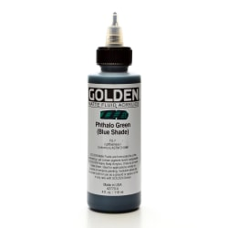 Golden Matte Fluid Acrylic Paint, 4 Oz, Phthalo Green/Blue Shade