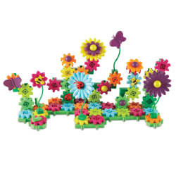 Learning Resources Gears! Gears! Gears!® Build & Bloom Building Set, Assorted Colors, Pre-K To Grade 2