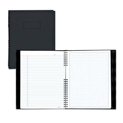 """Blueline® NotePro™ 30% Recycled Notebook, 7 1/4"""" x 9 1/4"""", Quadrille Ruled, 96 Sheets, Black"""
