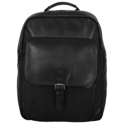 "Kenneth Cole Reaction Modern Dilemma Computer Backpack With 15"" Laptop Pocket, Black"