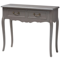 "Baxton Studio French Country Cottage Console Table, 30-5/16""H x 35-7/16""W x 13""D, Gray"