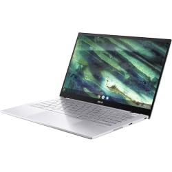 "Asus Chromebook Flip C436 C436FA-DS388T 14"" Touchscreen Chromebook - Full HD - Intel Core i3 (10th Gen) i3-10110U 2.10 GHz - 8 GB RAM - 128 GB SSD - Transparent Silver, Black - Chrome OS - Intel UHD Graphics - 12 Hour Battery"