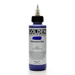 Golden Matte Fluid Acrylic Paint, 4 Oz, Ultramarine Blue