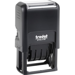 Trodat EcoPrinty 5-In-1 Date Stamp - Custom Message/Date Stamp - 10000 Impression(s) - Black - Recycled - 1 Each