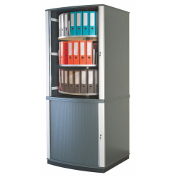 Moll LockFile Binder And File 5-Tier Carousel Cabinet, Graphite