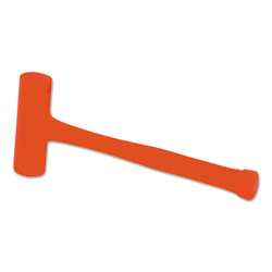 Compo-Cast Slimline Head Soft Face Hammers, 21 oz Head, 1 3/4 in Dia., Orange