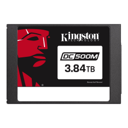 """Kingston Data Center DC500M - Solid state drive - encrypted - 3.84 TB - internal - 2.5"""" - SATA 6Gb/s - 256-bit AES - Self-Encrypting Drive (SED)"""
