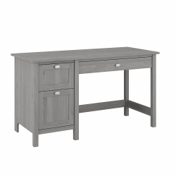 "Bush Furniture Broadview 54""W Computer Desk with Drawers, Modern Gray, Standard Delivery"