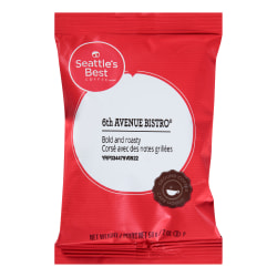 Seattle's Best Coffee® Henry's Blend Single-Serve Packets, Level 4, 2 Oz, Carton Of 18
