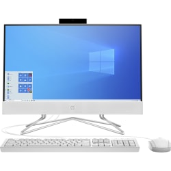 "HP 22-dd0010 All-In-One Desktop PC, 21.5"" Screen, AMD Athlon™ Silver, 4GB Memory, 256GB Solid State Drive, Windows® 10 Home, 9ED50AA#ABA"