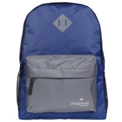 Playground Hometime Backpacks, Navy/Gray, Pack Of 12 Backpacks