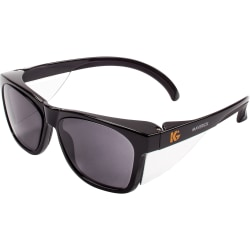 KleenGuard Maverick Safety Eyewear - Polycarbonate Lens - Smoke Gray, Black - 12 / Carton