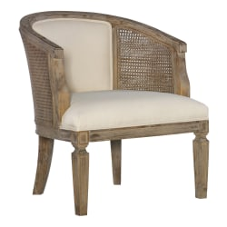 Linon Wales Accent Chair, Neutral/Gray Washed