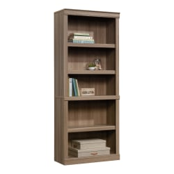 "Realspace® 72""H 5-Shelf Bookcase, Spring Oak"