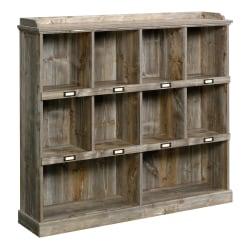 """Sauder Granite Trace 48""""H 10-Shelf Cubby Bookcase, Rustic Cedar"""