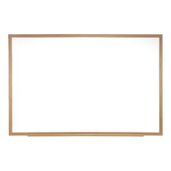 "Ghent Magnetic Dry-Erase Whiteboard, 24"" x 36"", Natural Oak Wood Frame"