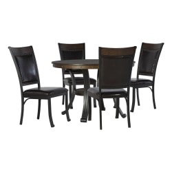 Powell Vinessa 5-Piece Dining Set, Black/Rustic Umber
