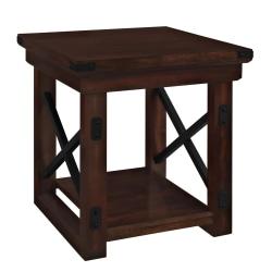 Ameriwood™ Home Wildwood Wood Veneer End Table, Square, Espresso