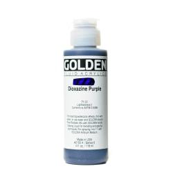 Golden Fluid Acrylic Paint, 4 Oz, Dioxazine Purple