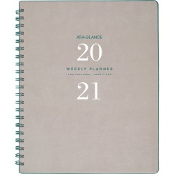 "At-A-Glance Signature Collection Weekly/Monthly Planner, Gray - Professional - Yes - Daily, Weekly, Monthly - 1.1 Year - January 2020 till January 2021 - 1 Week, 1 Month Double Page Layout - 8 3/4"" x 11"" Sheet Size - Gray"