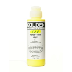 Golden Fluid Acrylic Paint, 4 Oz, Hansa Yellow Light