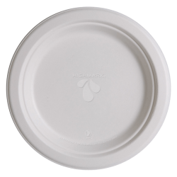 "Highmark® Paper Plates, 9"", White, Pack Of 500"
