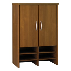 "Bush Business Furniture Components Hutch 30""W, Warm Oak, Standard Delivery"